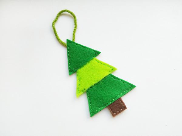 Оригинальные игрушки из фетра к Новому году, которые сможет сделать каждый