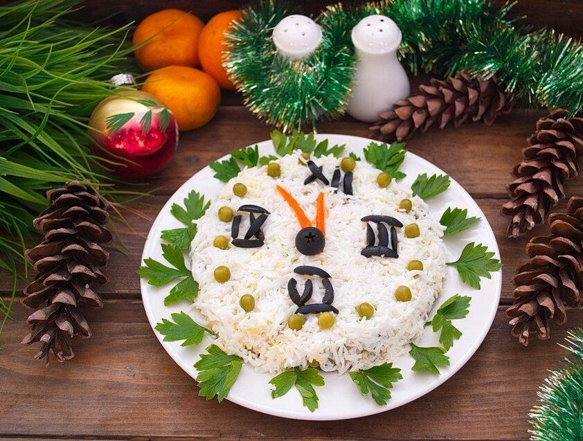 выявляется украшение салатов к новому году картинки кому-то