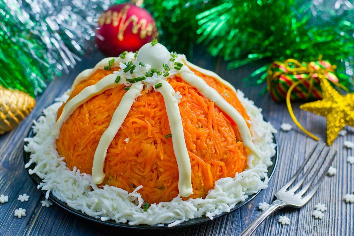 Новогодний салат картинками